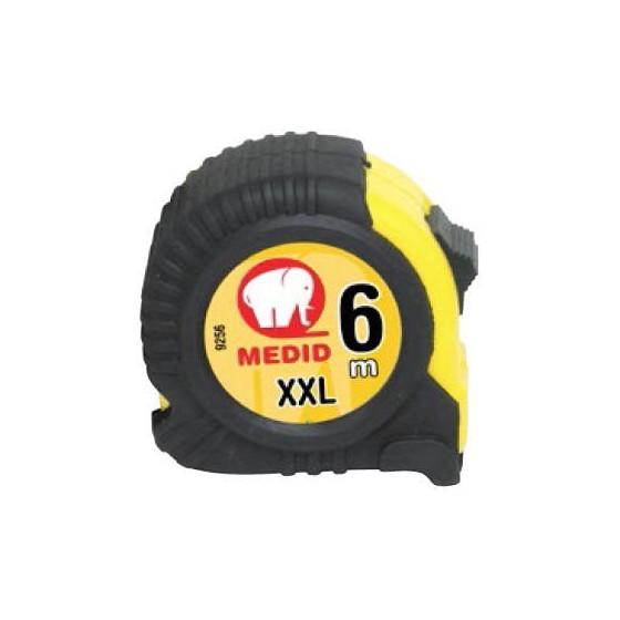 Mètre à ruban avec protection de gomme 6M - Taille XXL - Medid - 9256