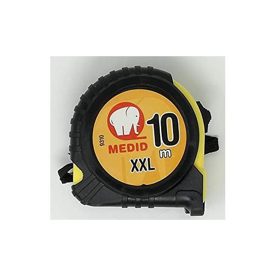 Mètre à ruban avec protection de gomme 10M - Taille XXL - Medid - 9310