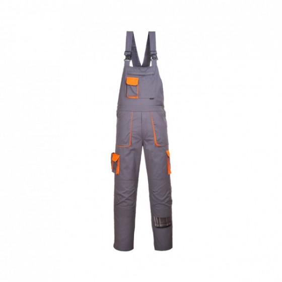 Cotte à bretelles TEXO CONTRAST Gris Poches Oranges - Portwest - TX12GRR