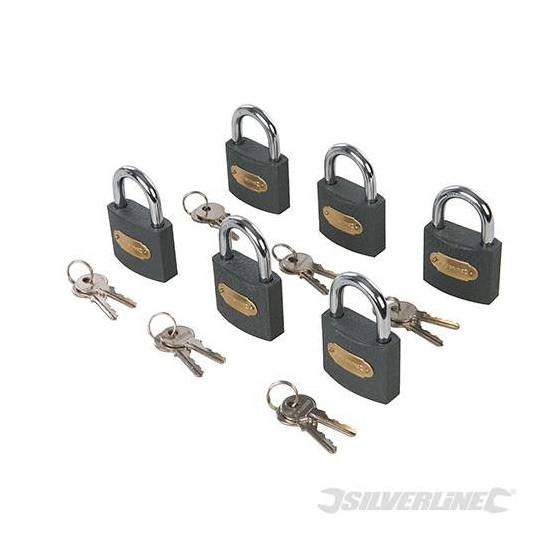 Cadenas interchangeables en fer, 6 pcs 50mm - Silverline - 407238