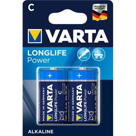Piles LR14 Long Life Power 2 alcalines C - Varta - 4914