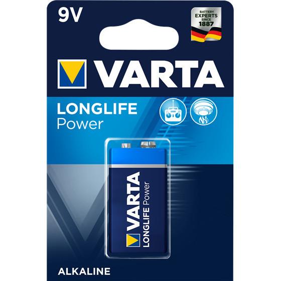 Pile 6LP3146 Long Life Power 2 alcalines 9V - Varta - 4922